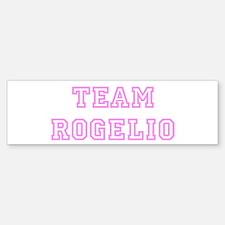 Pink team Rogelio Bumper Bumper Bumper Sticker