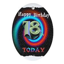 happy 18th birthday today art illuistration Orname