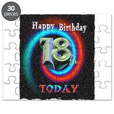happy 18th birthday today art illuistration Puzzle