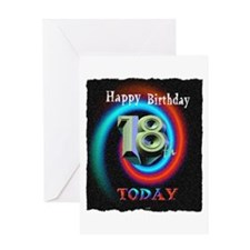 happy 18th birthday today art illuistration Greeti