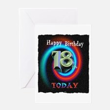 happy 18th birthday today art illuistration Greeti
