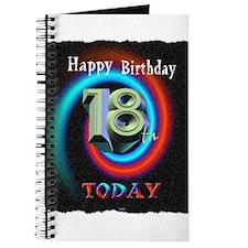 happy 18th birthday today art illuistration Journa