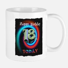 happy 18th birthday today art illuistration Mug