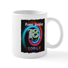 happy 18th birthday today art illuistration Mug