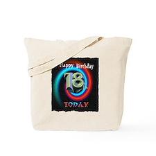 happy 18th birthday today art illuistration Tote B