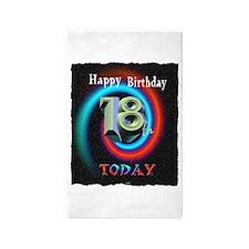 happy 18th birthday today art illuistration 3'x5'