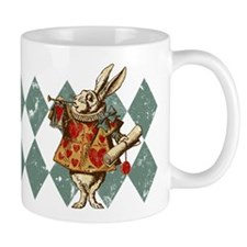Alice White Rabbit Vintage Small Mugs