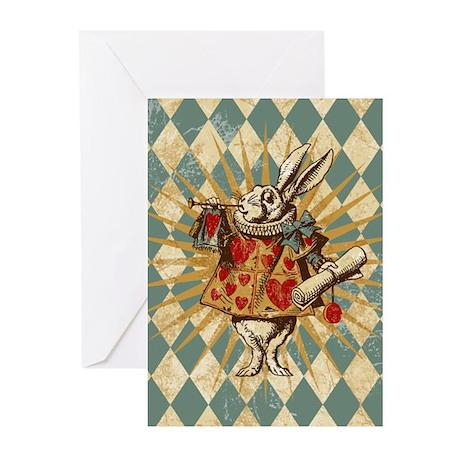Alice White Rabbit Vintage Greeting Cards (Pk of 1