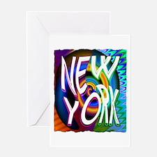 new york art illustration Greeting Card
