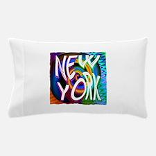 new york art illustration Pillow Case