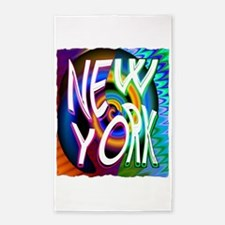 new york art illustration 3'x5' Area Rug