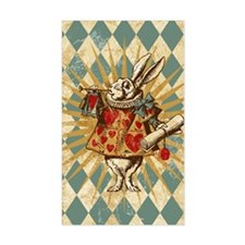 Alice White Rabbit Vintage Decal