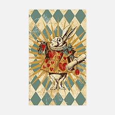 Alice White Rabbit Vintage Decal