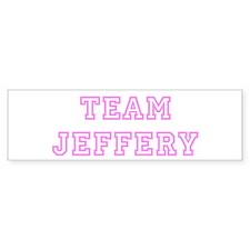 Pink team Jeffery Bumper Bumper Sticker