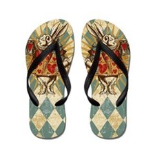 Alice White Rabbit Vintage Flip Flops
