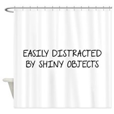 Shiny Objects Shower Curtain