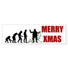 Evolve Santa Bumper Sticker