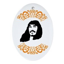 Hippy Face Oval Ornament
