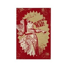 Red Queen Off With Her Head Rectangle Magnet