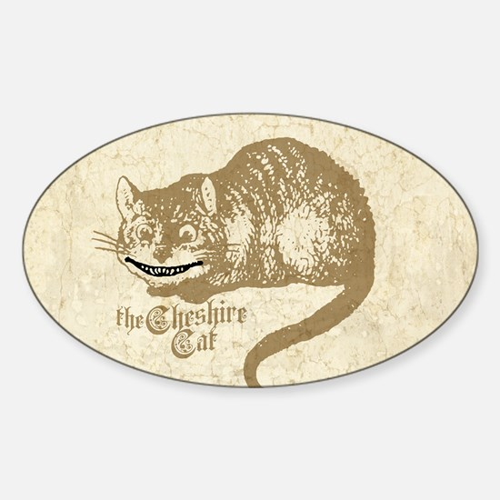 Cheshire Cat Sticker (Oval)
