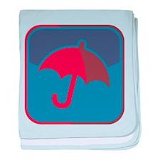 Regenschirm-Symbol baby blanket