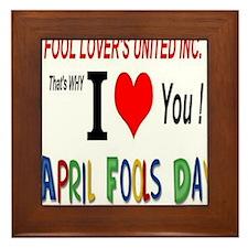 April Fool Lovers United Framed Tile