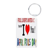 April Fool Lovers United Keychains