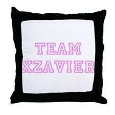 Pink team Xzavier Throw Pillow