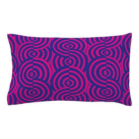 Pink & Blue Semi-Circles Pillow Case