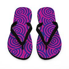 Pink & Blue Semi-Circles Flip Flops