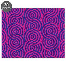 Pink & Blue Semi-Circles Puzzle