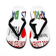 April Fool Lovers United Flip Flops