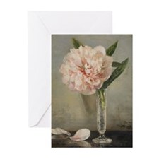 Single Pink Peony Greeting Cards (Pk of 10)