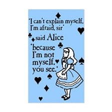 Alice Not Myself Decal