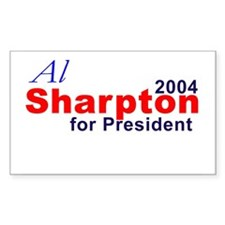 Sharpton in 2004 Rectangle Decal