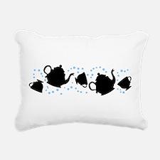 Tumbling Tea Party Rectangular Canvas Pillow