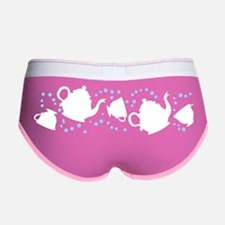 Tumbling Tea Party Women's Boy Brief