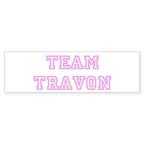 Pink team Travon Bumper Sticker