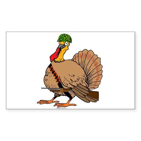 Tactical Turkey Rectangle Sticker