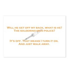 soldering iron police.png Postcards (Package of 8)