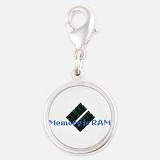 memoryisram.png Silver Round Charm