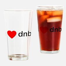 I Love DnB DJ Drinking Glass