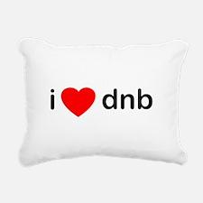I Love DnB DJ Rectangular Canvas Pillow