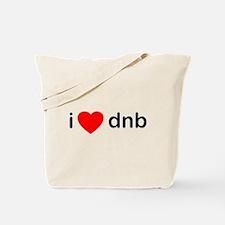 I Love DnB DJ Tote Bag