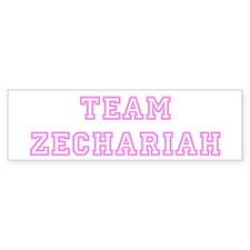 Pink team Zechariah Bumper Bumper Sticker