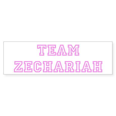 Pink team Zechariah Bumper Sticker