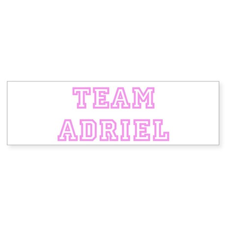 Pink team Adriel Bumper Sticker
