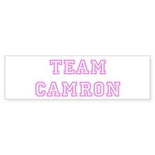 Pink team Camron Bumper Bumper Sticker