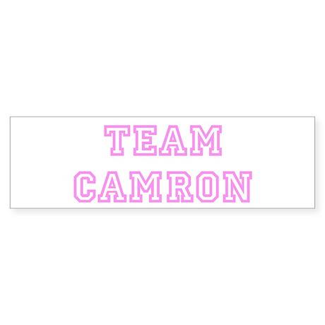 Pink team Camron Bumper Sticker