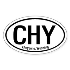 Cheyenne, Wyoming Oval Decal